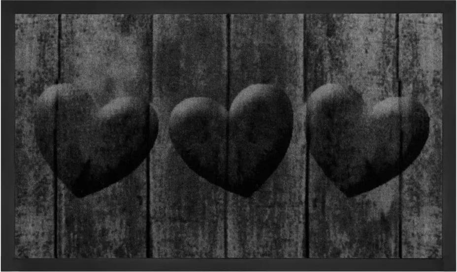 Covor Hanse Home Hearts, 45 x 75 cm, gri