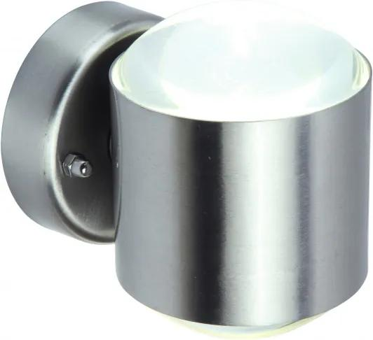 Lutec 5521201001 Aplice pentru iluminat exterior CRYSTAL oțel inoxidabil oțel inoxidabil Lextar 3030 660lm 3000K IP44 A+