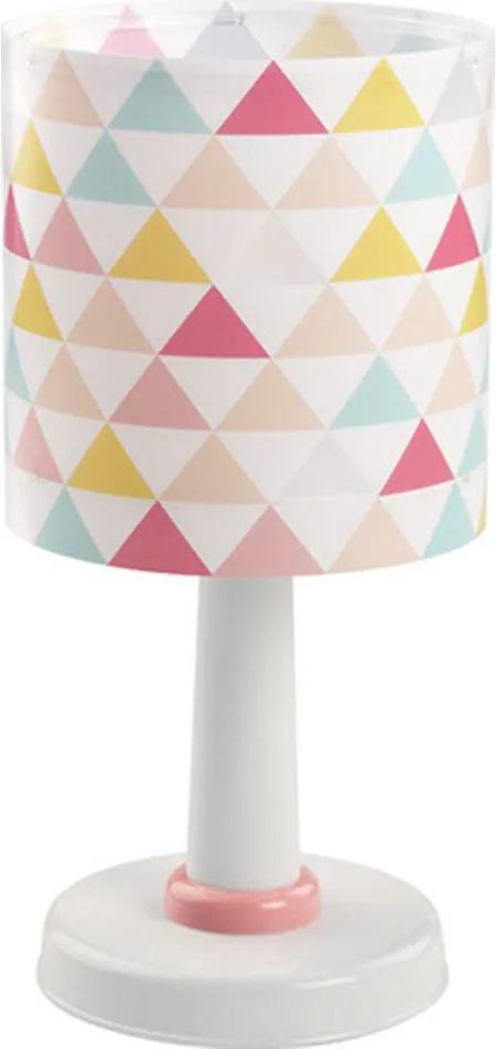 Dalber Happy 72631 Lampă de masă pentru copii alb roz 1 x E14 max. 40W 30 x 15 x 15 cm