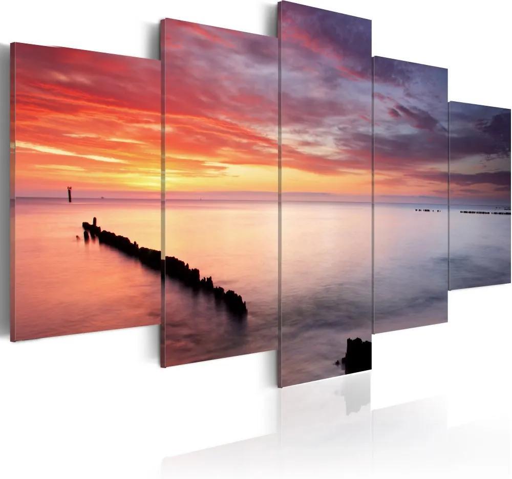 Tablou - Hra barev 100x50 cm