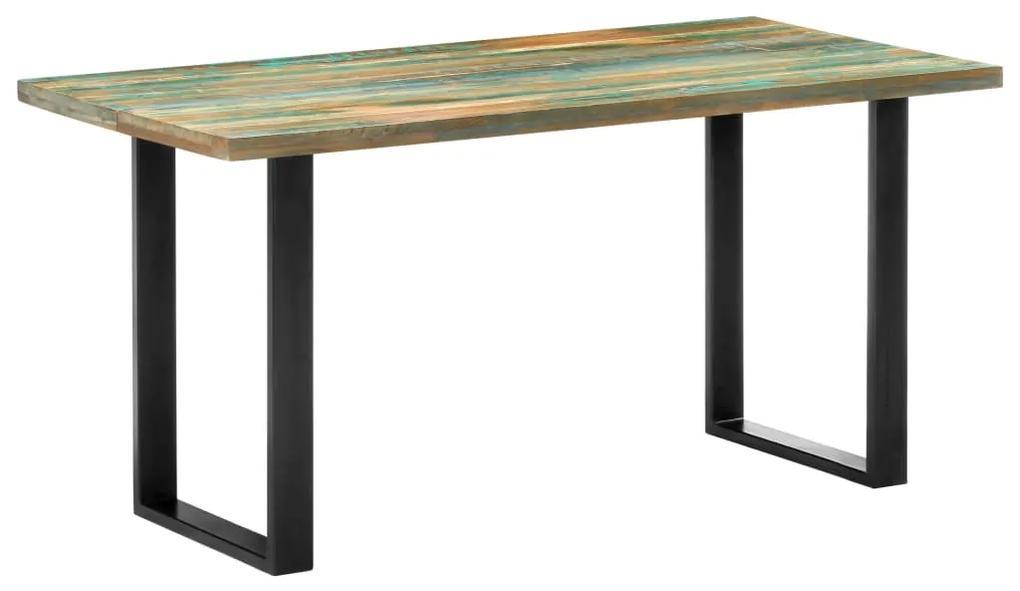285832 vidaXL Masă de bucătărie, 160 x 80 x 75 cm, lemn masiv reciclat