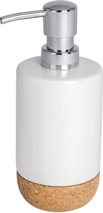 Dozator săpun lichid Wenko Corc, alb