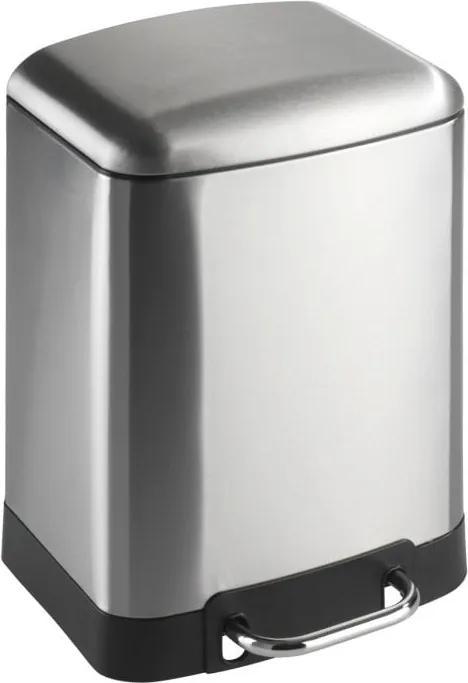 Coș de gunoi cu pedală Wenko Studio, 6 l, argintiu