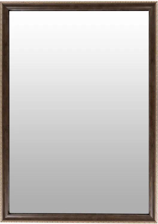 Oglinda dreptunghiulara cu rama din polistiren maro închis/aurie Gilbert, 69,5cm (L) x 49,5cm (L) x 1,6cm (H)