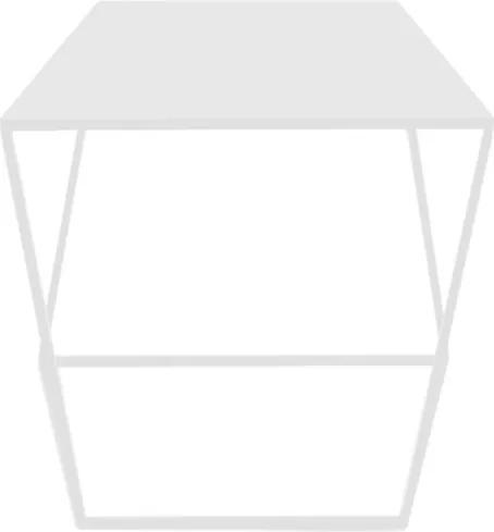 Masuta alba pentru cafea din metal 50x50 cm Zak