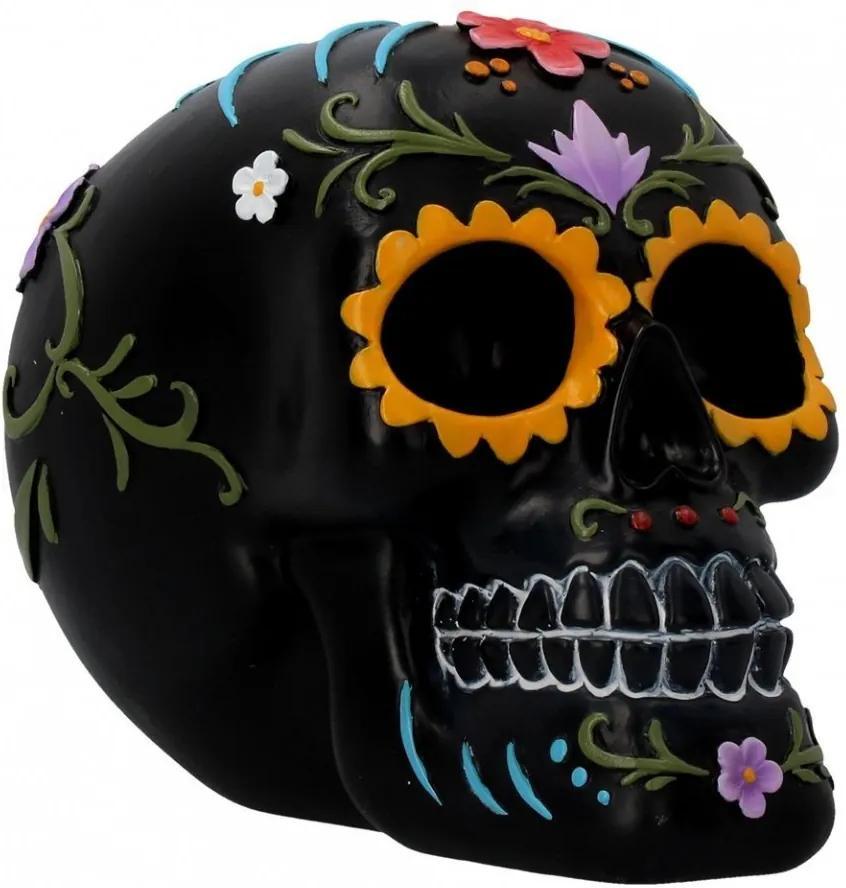Statueta sugar skull Festivitati florale 15.2 cm