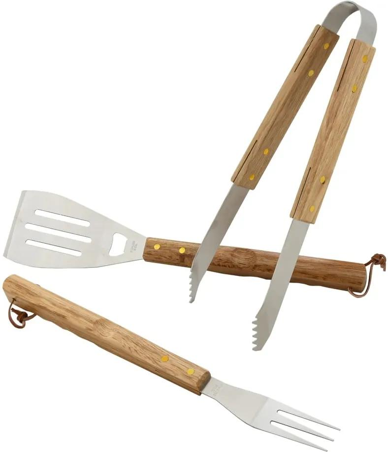 Set 3 ustensile pentru grătar Cattara Wood