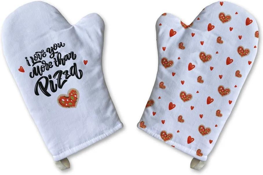 Set 2 mănuși de bucătărie din bumbac Butter Kings Love me more