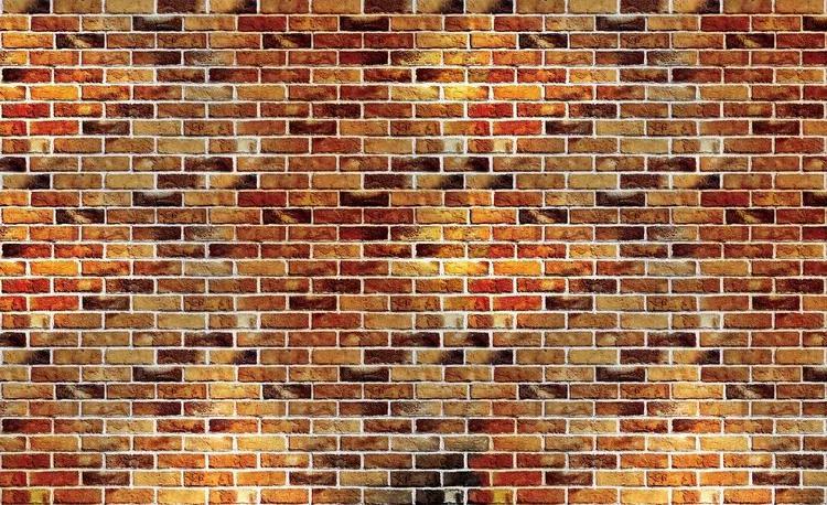 Brick Wall Fototapet, (104 x 70.5 cm)