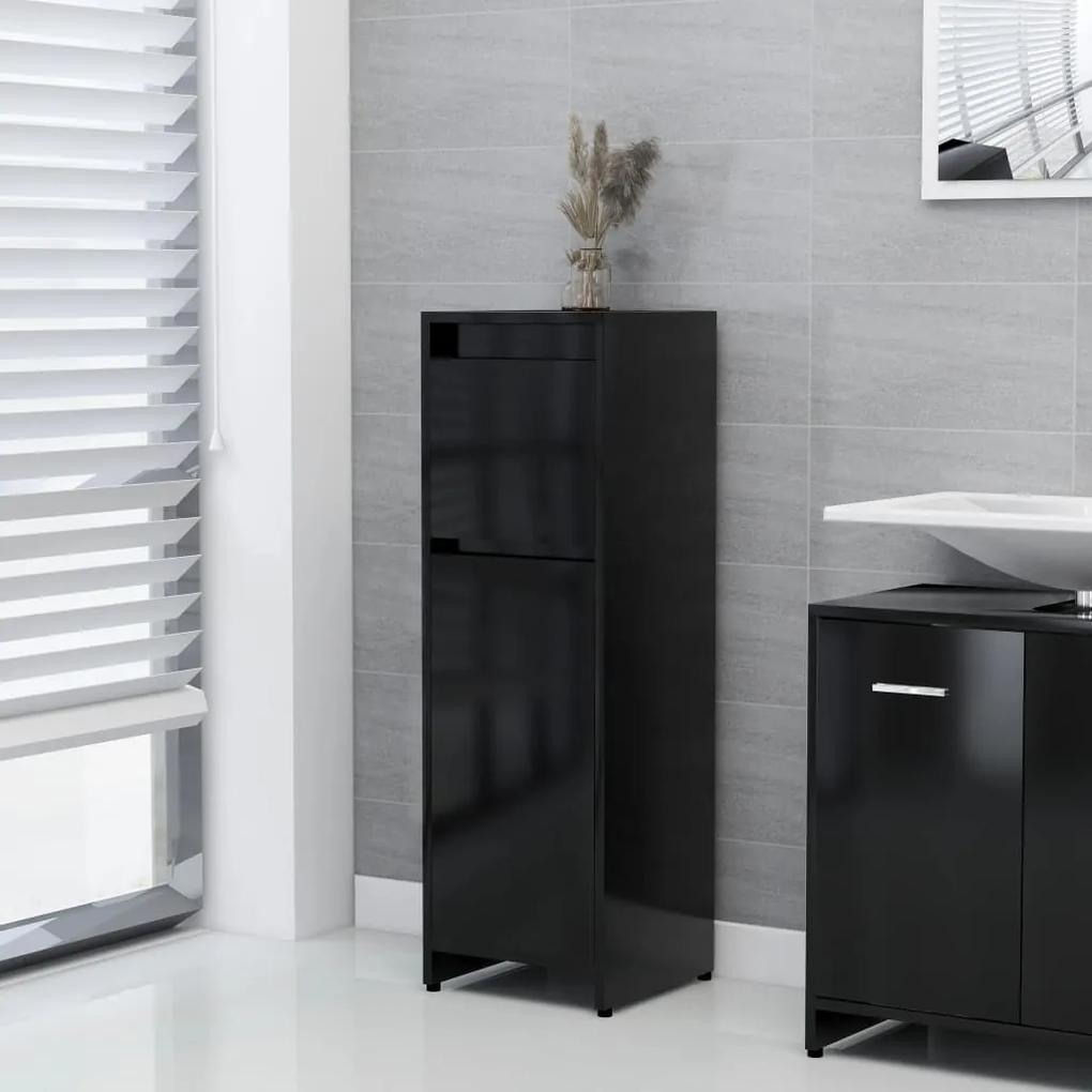 802661 vidaXL Dulap de baie, negru, 30 x 30 x 95 cm, PAL