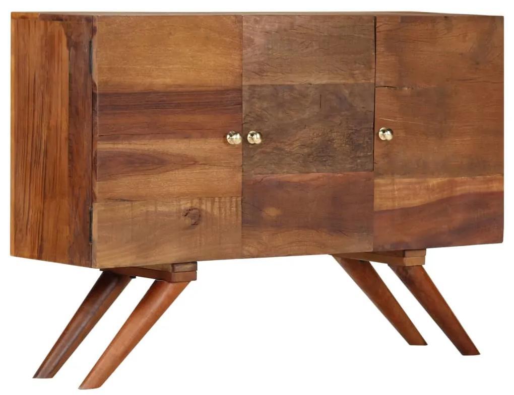 246674 vidaXL Servantă, maro, 110 x 30 x 75 cm, lemn masiv reciclat