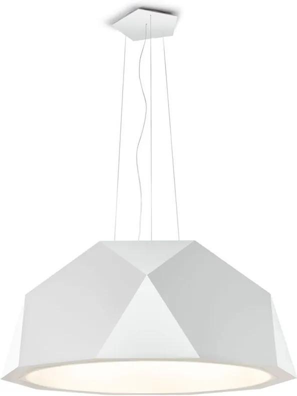 Crio Alb A17 - Pendul din aluminiu de forma unei pălării
