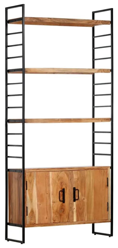 284420 vidaXL Bibliotecă cu 4 niveluri, 80x30x180 cm, lemn masiv de acacia