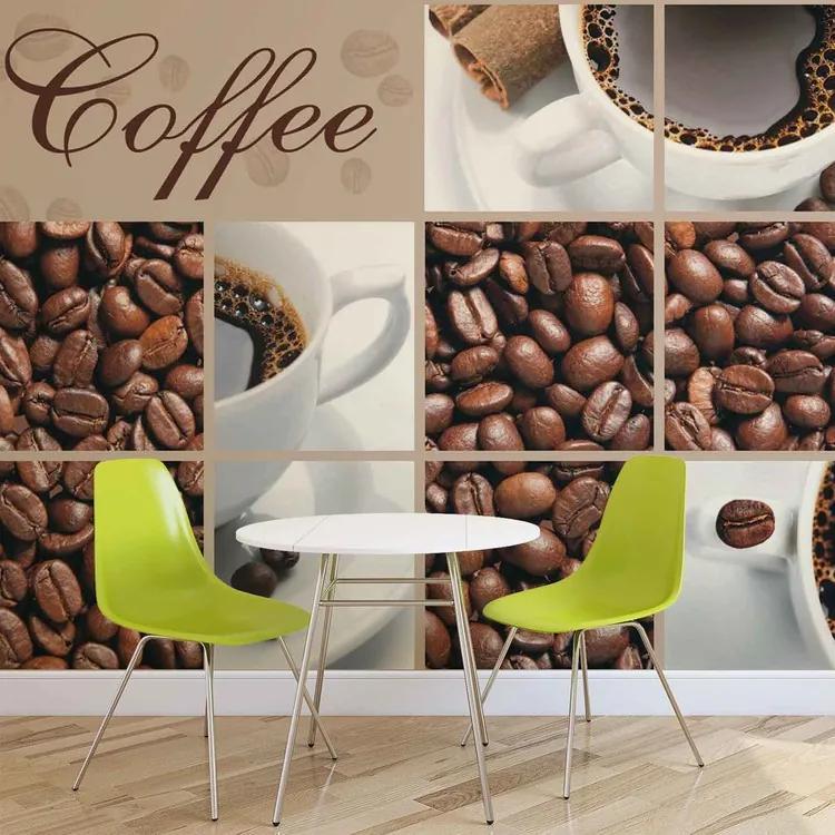 Coffee Cafe Fototapet, (208 x 146 cm)