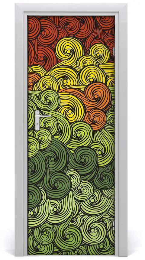 Autocolante pentru usi valuri colorate