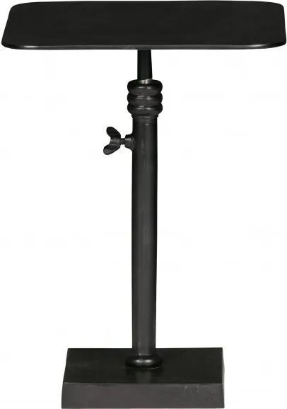 Masuta de cafea patrata din aluminiu Atelie 50x35x35 cm neagra