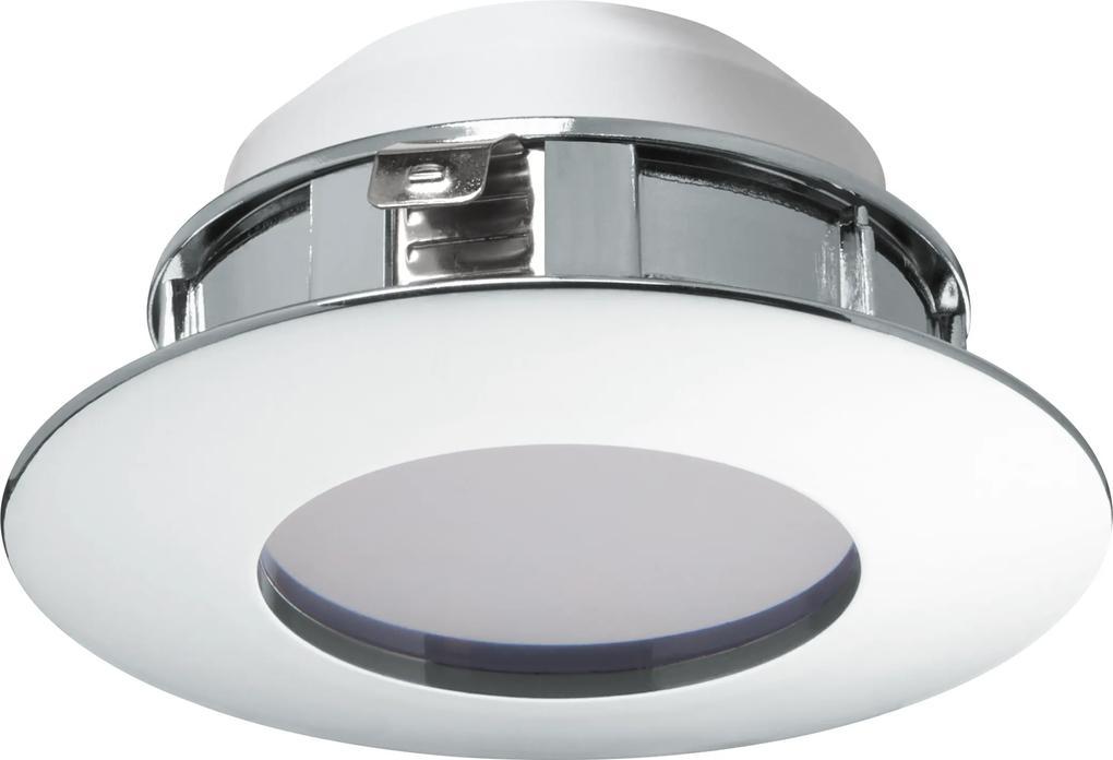 Spot incastrat PINEDA, 95805, LED, 6W, Ø 78, 500 Lumeni, 3000 K (Calda), Plastic / Crom