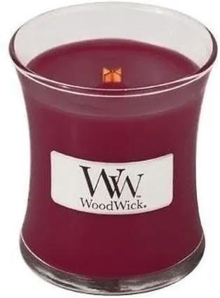 Lumânare parfumată WoodWick, cu aromă de cireșe negre, 85 g, 20 ore