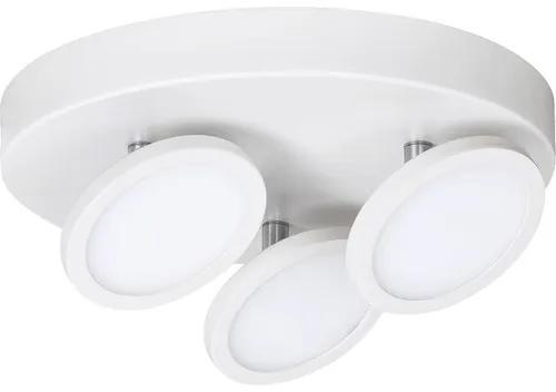 Plafoniera cu LED integrat Elsa 3x6W 1260 lumeni, metal/plastic alb