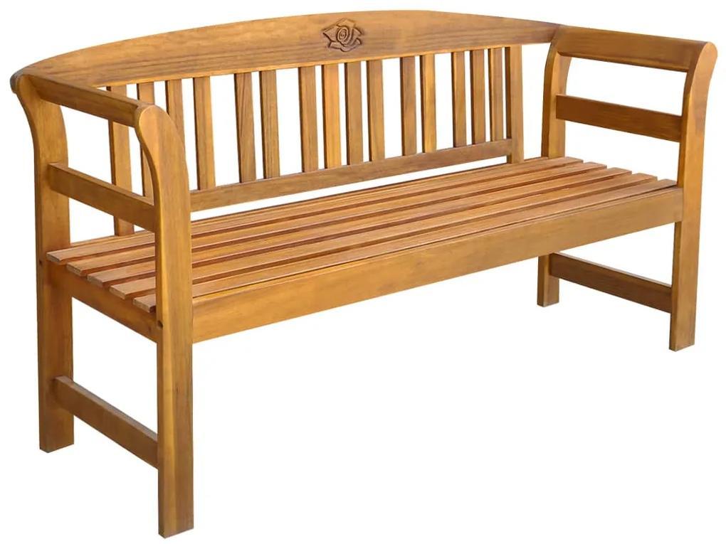 44131 vidaXL Bancă de grădină, 157 cm, lemn masiv de acacia