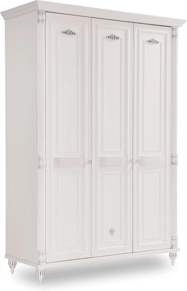 Dulap din PAL cu 3 usi Romantic 140x203x58 cm