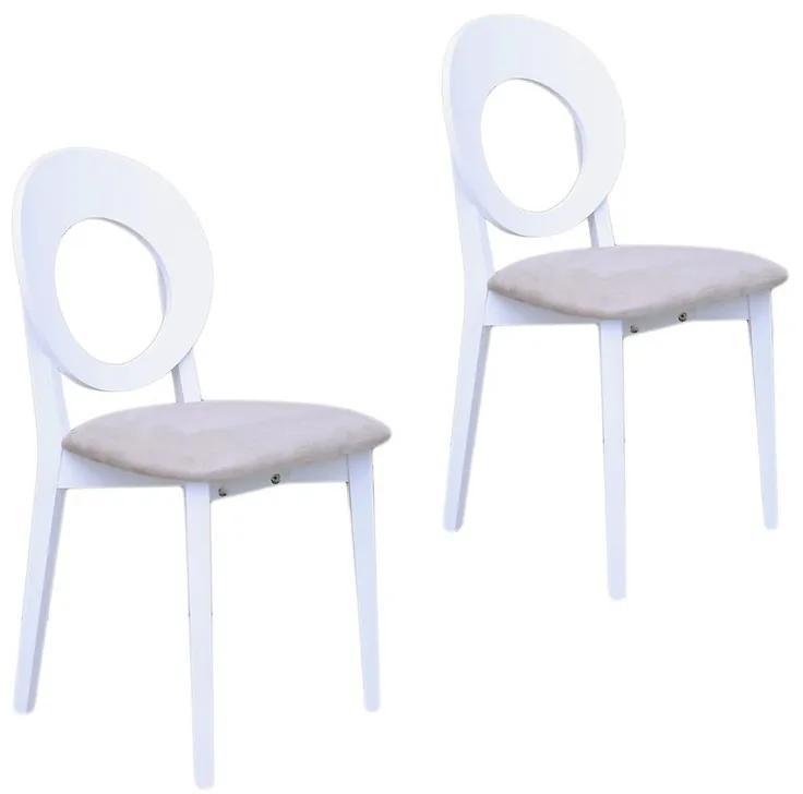Set 2 scaune COSMO, Alb/Solo 22