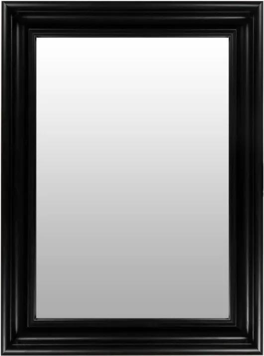 Oglinda dreptunghiulara cu rama din polistiren maro închis Scott, 79,5cm (L) x 59,5cm (L) x 5,2cm (H)