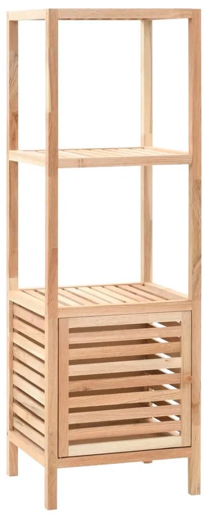 247099 vidaXL Dulap depozitare baie, 39,5x35,5x123 cm, lemn de nuc masiv