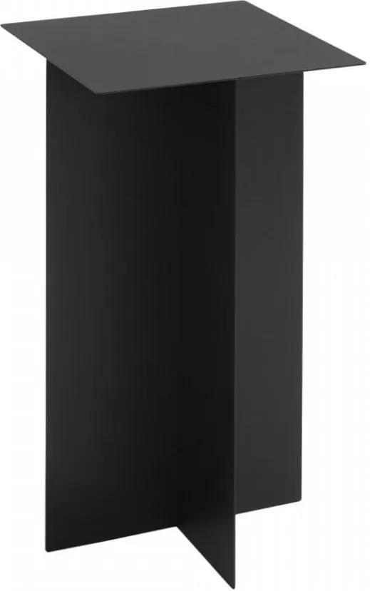 Masuta neagra pentru cafea din metal 30x30 cm Oli