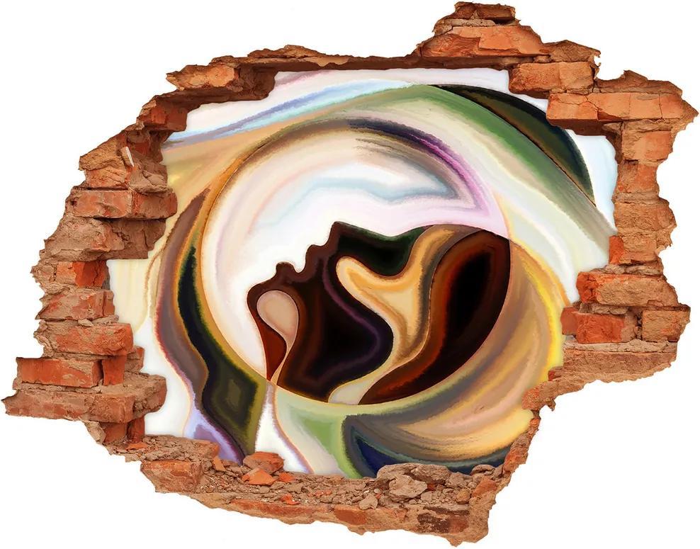 Autocolant gaură 3D Abstracțiune