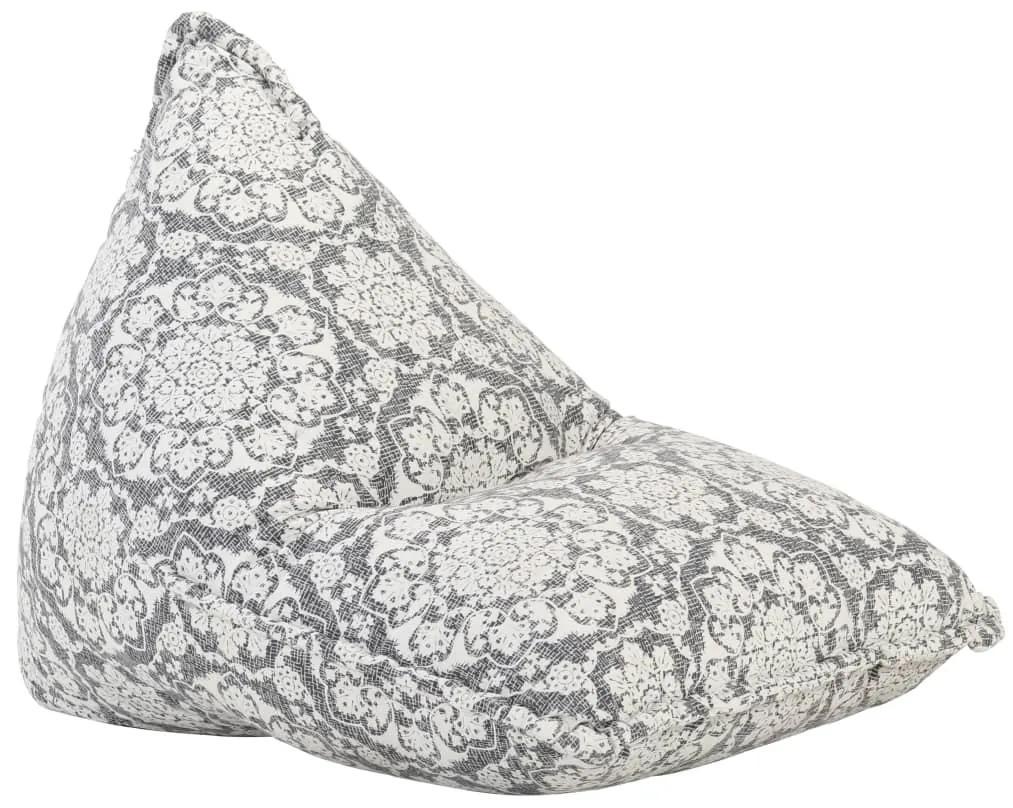 287730 vidaXL Canapea tip sac, gri, material textil, petice