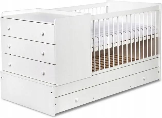 Patut transformabil pentru copii Kompakt alb