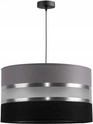 Lustră pe cablu CORAL 1xE27/60W/230V negru-gri