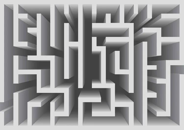 Abstract Pattern Modern Fototapet, (184 x 254 cm)
