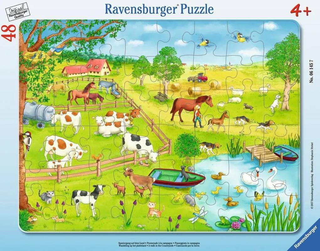 Puzzle Copii 4Ani+ zona rurala, 48 piese