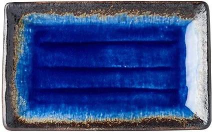 Farfurie servire din ceramică MIJ Cobalt, 21 x 13 cm, albastru