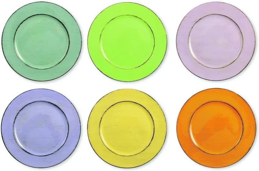 Set 6 farfurii colorate Villa d'Este Cascina, Ø 33 cm