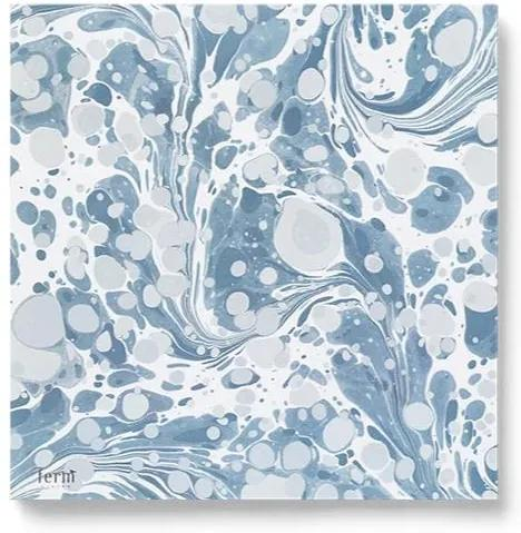 Servetele Marbling (Set 20 buc) - Hartie Albastru Lungime(16.5 cm) x Latime(16.5 cm)