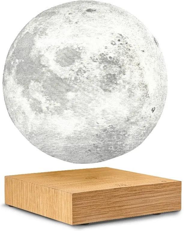 Veioză cu levitație magnetică în formă de Lună Gingko White Ash