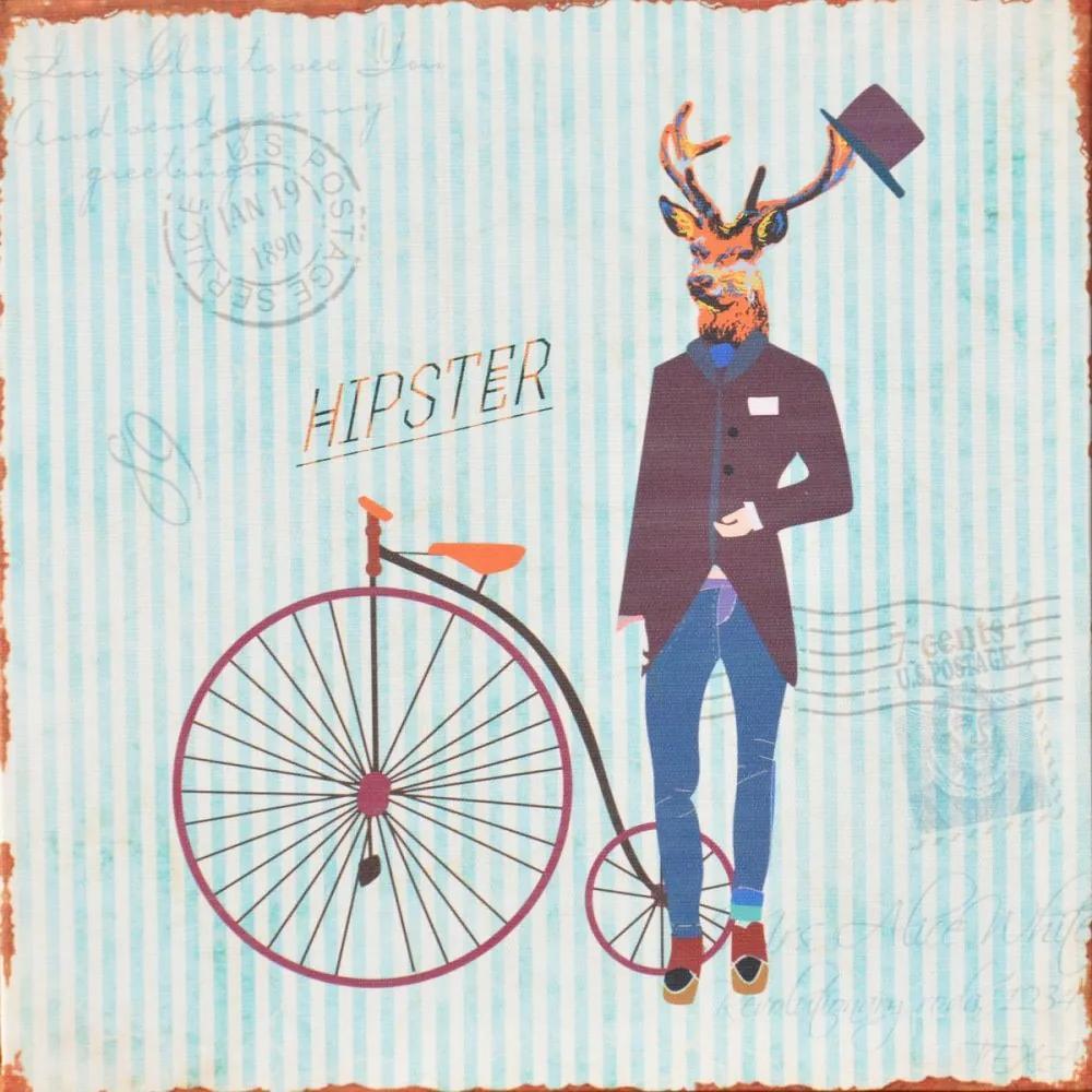 Falc Tablou pe pânză - Bicycle, 28x28 cm