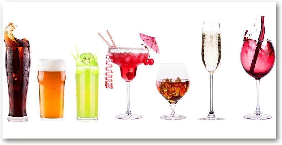 Tablou sticlă Un set de băuturi