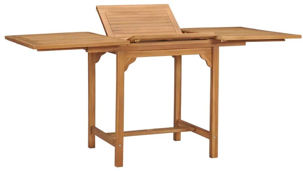47420 vidaXL Masă de grădină extensibilă (110-160)x80x75cm lemn masiv tec