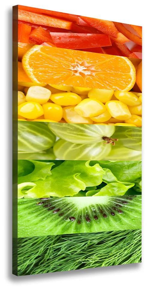 Tablou pe pânză canvas Fructe si legume