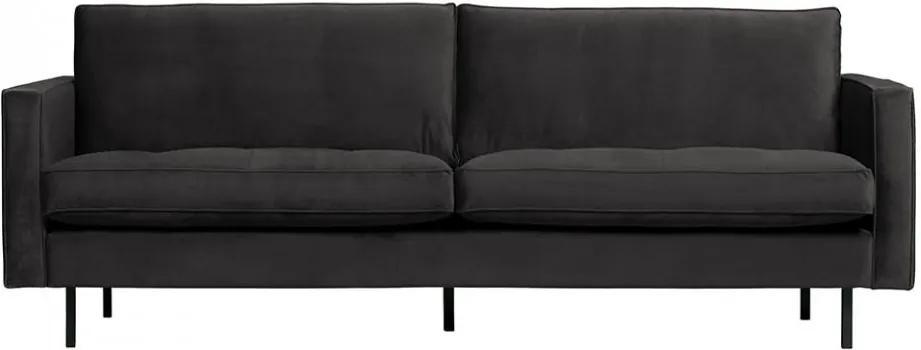 Canapea gri antracit din catifea pentru 2,5 persoane Rodeo