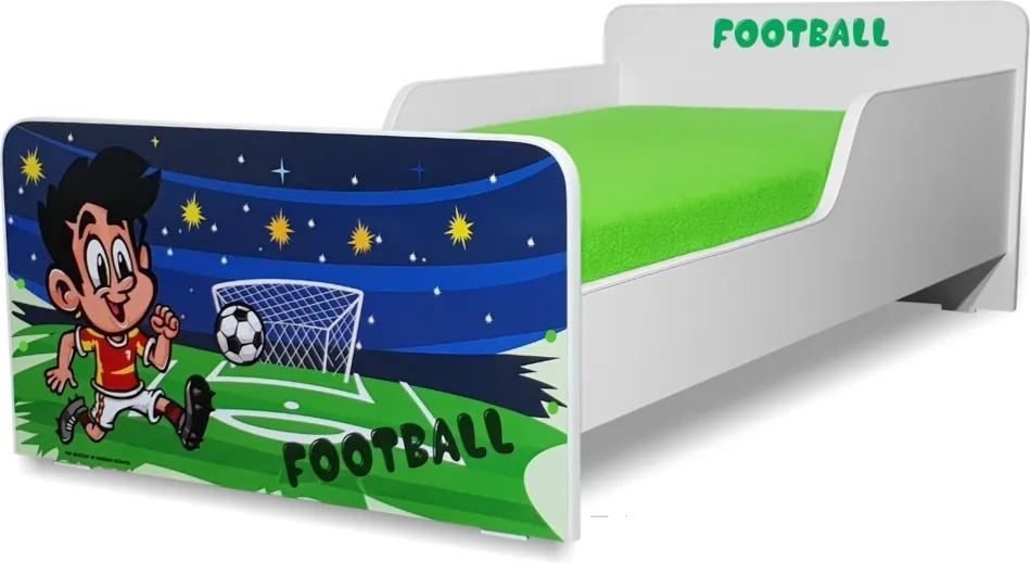 Pat copii  Fotbal 2-8 ani cu saltea cadou