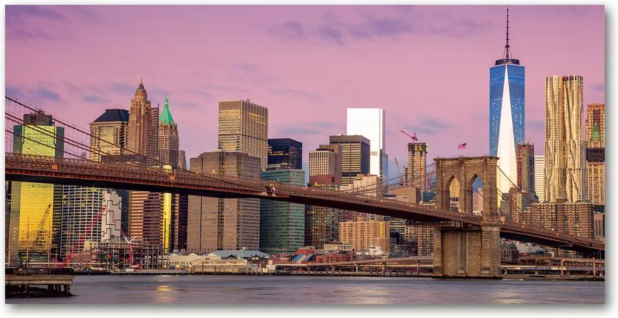 Tablou pe sticlă acrilică Manhattan New York City