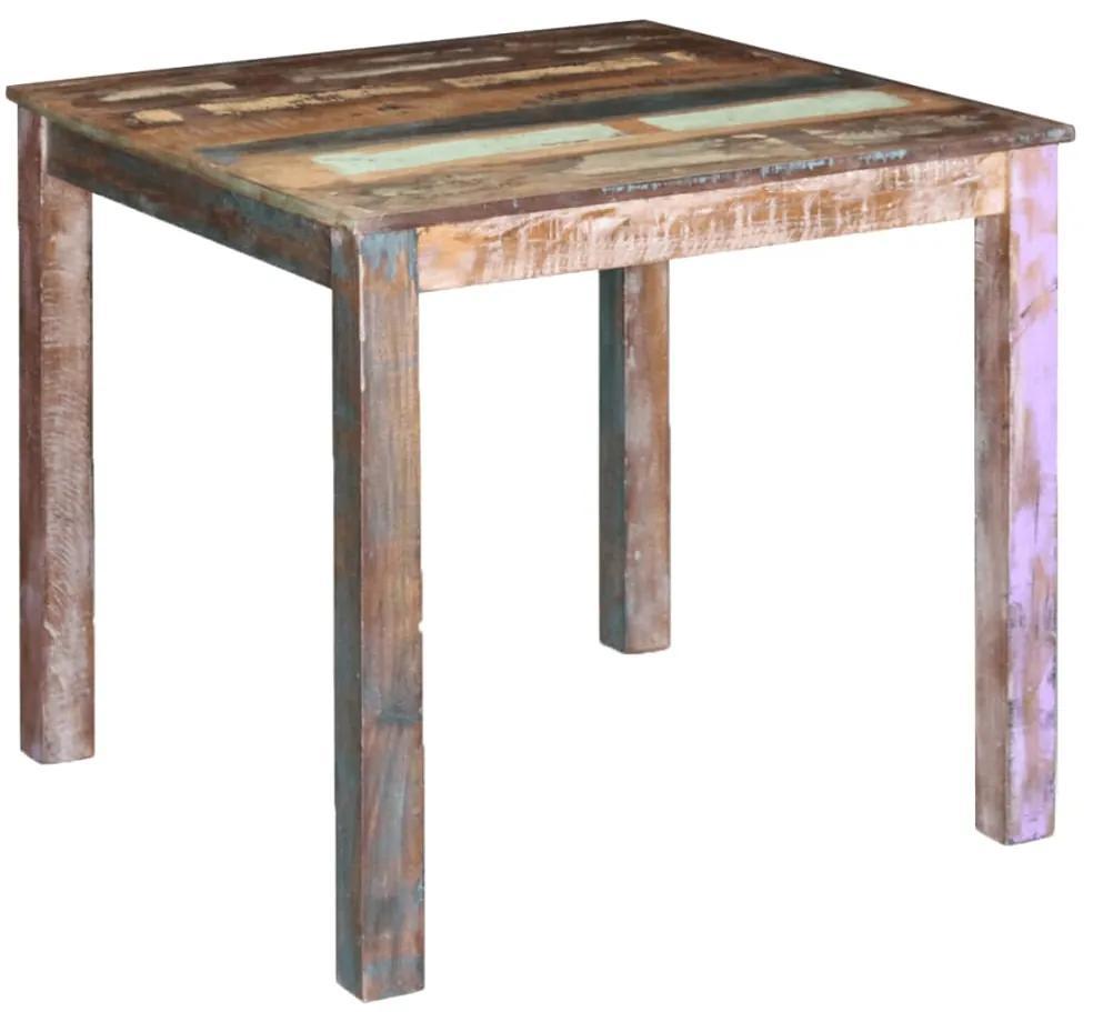 243452 vidaXL Masă de bucătărie din lemn masiv reciclat, 80 x 82 x 76 cm