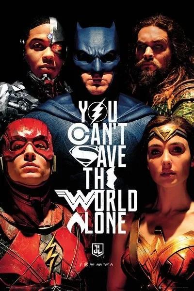 Justice League - Faces Poster, (61 x 91,5 cm)