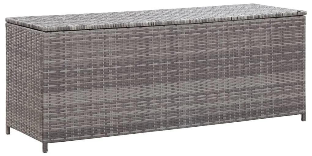 46460 vidaXL Ladă de depozitare de grădină, gri, 120x50x60 cm, poliratan