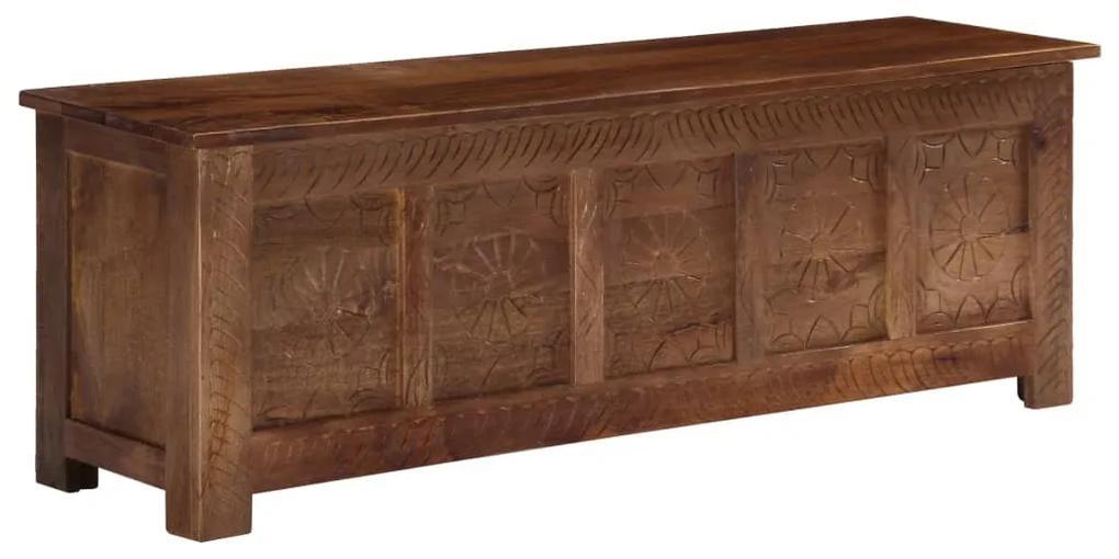 247697 vidaXL Ladă de depozitare, 120x30x40 cm, lemn masiv de mango